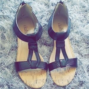 Rialto Patent Zipper Gladiator Sandals